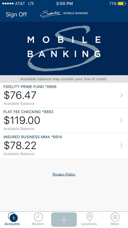 Signature Mobile Banking