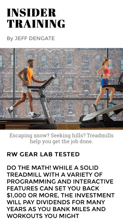 Screenshot for Runner's World in United States App Store