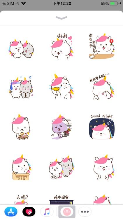 Pink Sticker-Cute rabbit baby