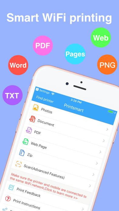 Screenshot for Printsmart-WiFi printer app in Denmark App Store