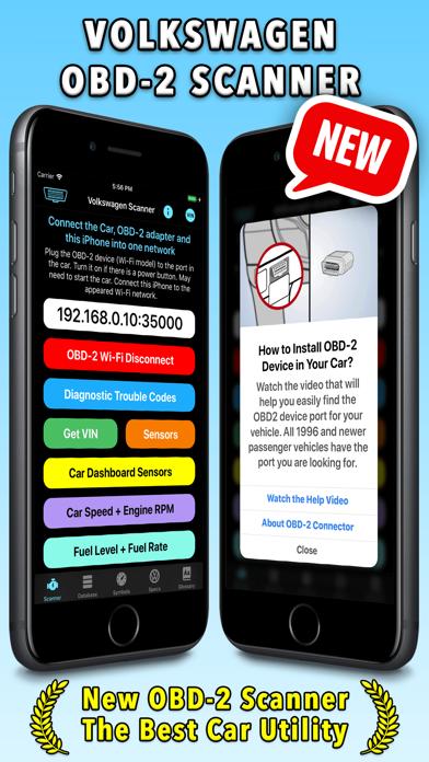 Volkswagen App Screenshot on iOS