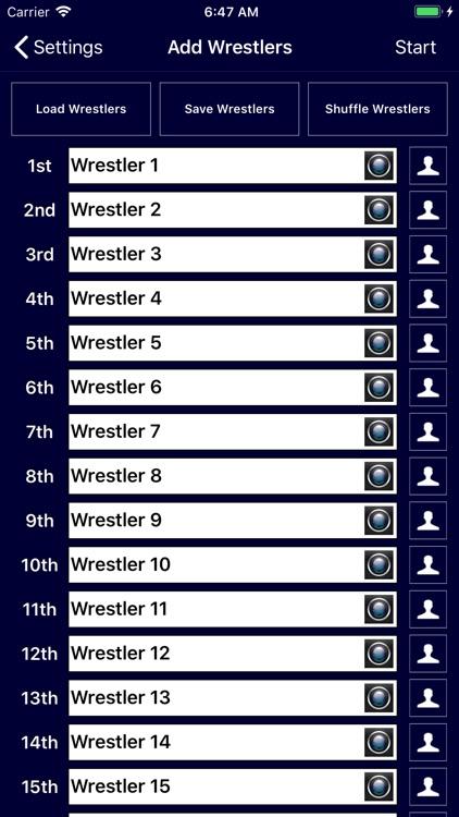 Wrestling Bracket Maker screenshot-3