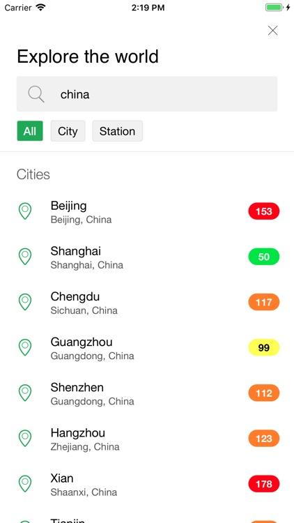 AirChecker, Air quality app