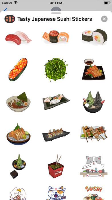 Tasty Japanese Sushi Stickers screenshot 3