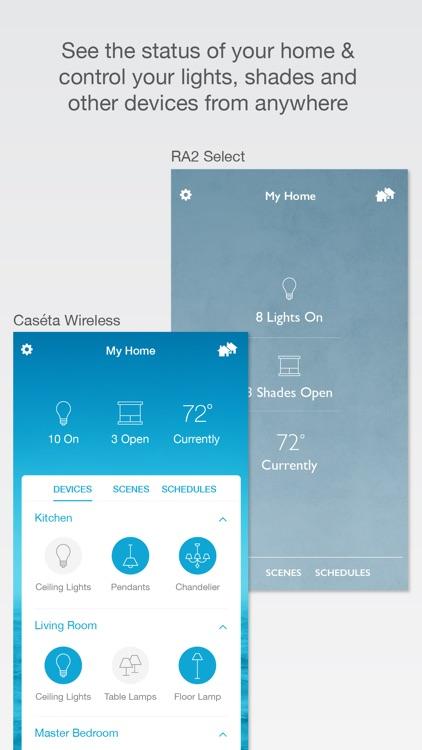Lutron Caséta & RA2 Select app screenshot-0