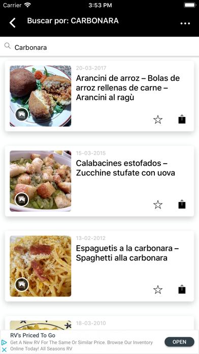 Recetas Italianas screenshot four