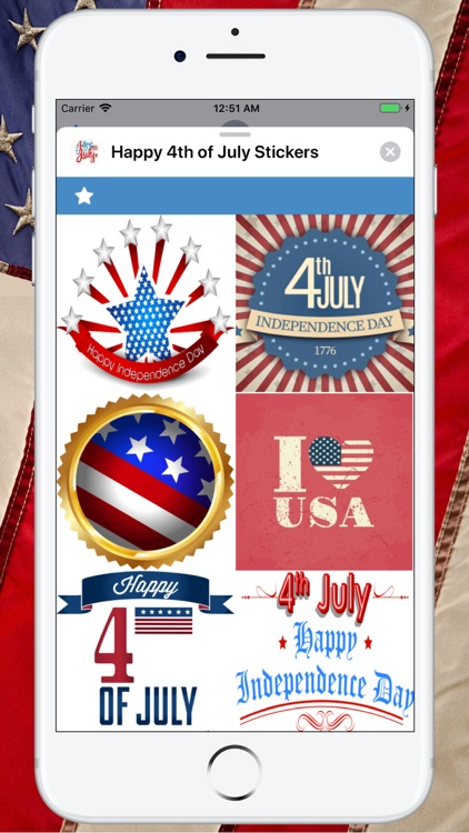 Happy 4th of July Stickers ! screenshot-0