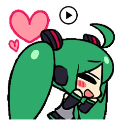 Animated Miku And Gang Sticker