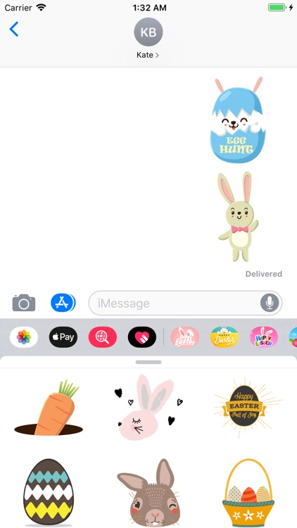 Happy Easter Egg Hunt Stickers