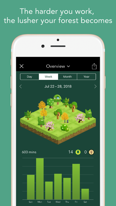 Screenshot for Forest - Stay focused in Singapore App Store