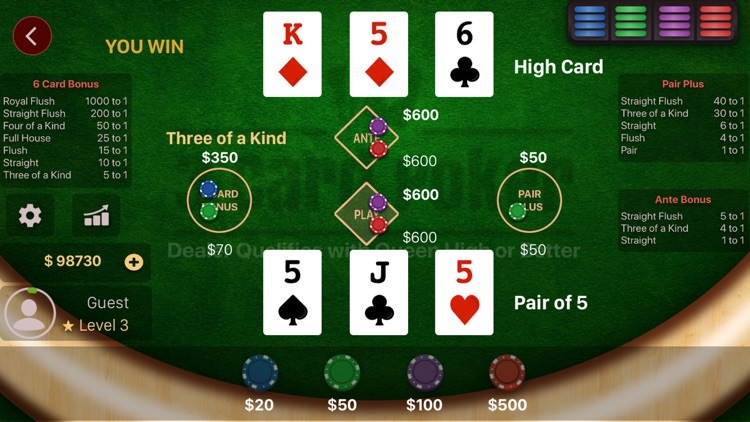 3 Card Poker Casino screenshot-3