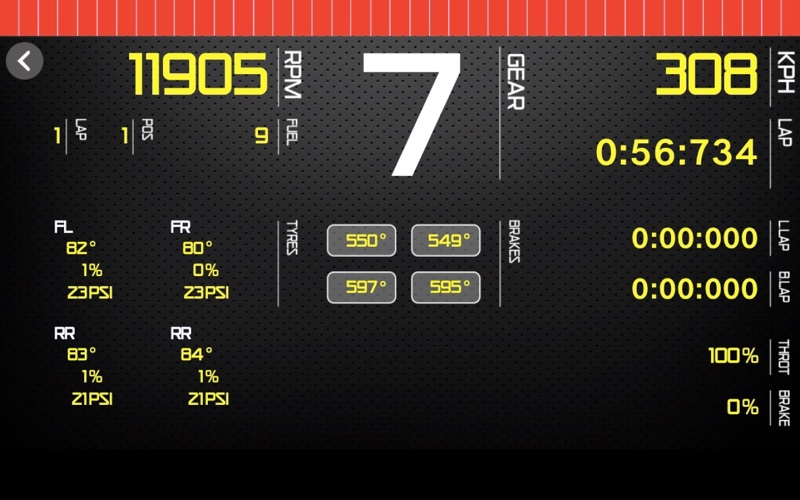 Sim Racing Dashboard screenshot 2