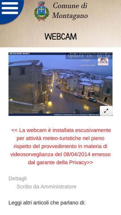 Screenshot of Montagano Comune4