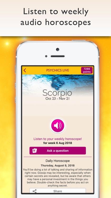Psychics Live Horoscopes Tarot screenshot-4