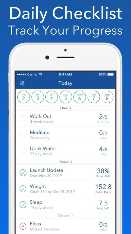 Strides: Goal & Habit Tracker screenshot-3