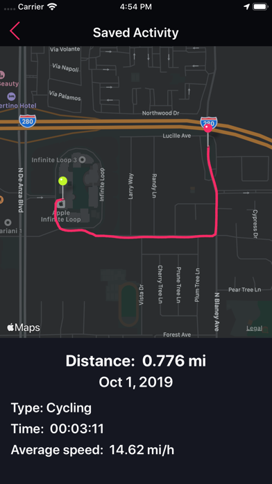 Screenshot for Running Tracker in United States App Store