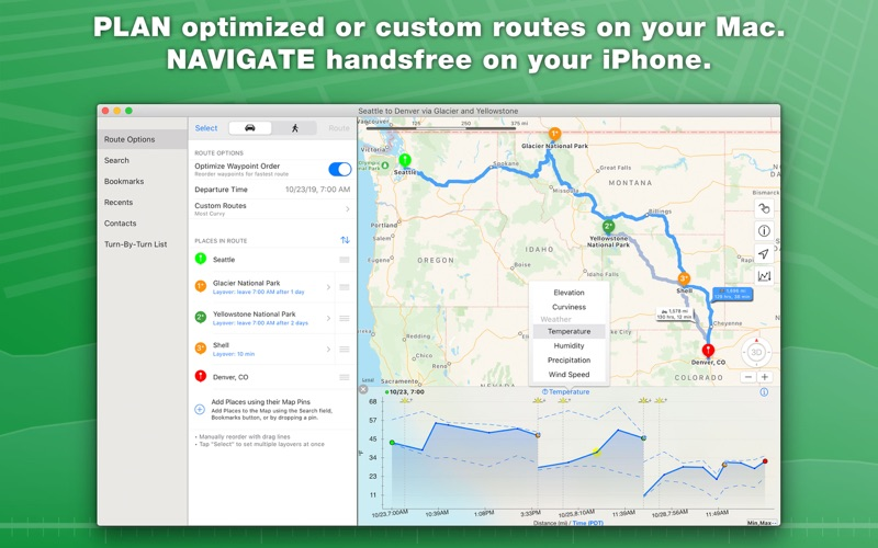 inRoute Route Planner for Mac
