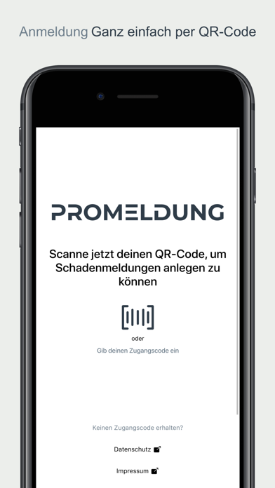 promeldung screenshot 1