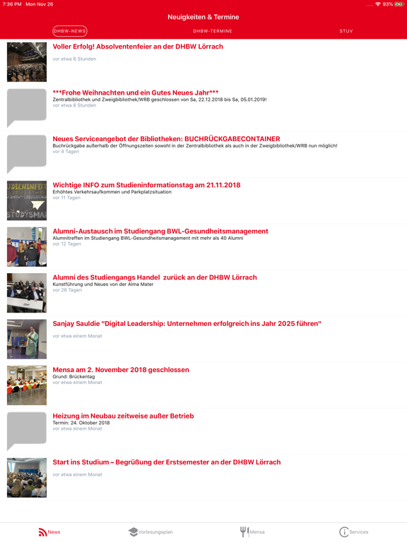 Ipad Screen Shot DHBW Lörrach Campus App 0