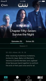 The CW iphone images