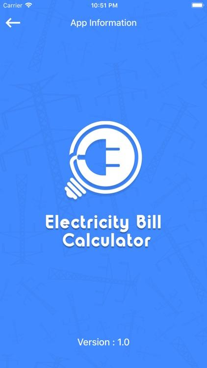 Electricity Bill Calc screenshot-3