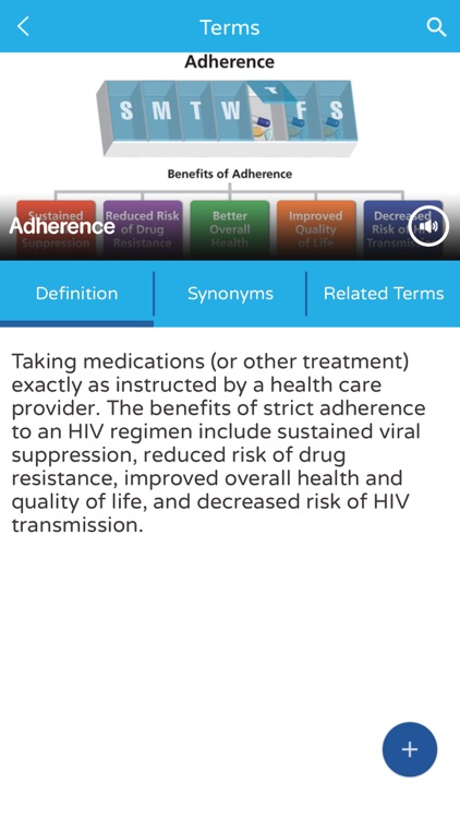 AIDSinfo HIV/AIDS Glossary screenshot-2