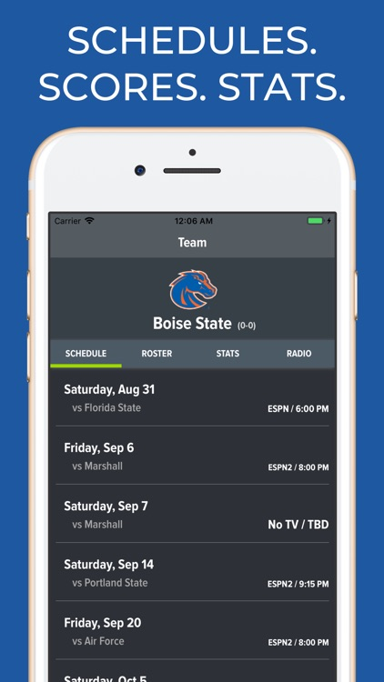 Boise State Football Schedules