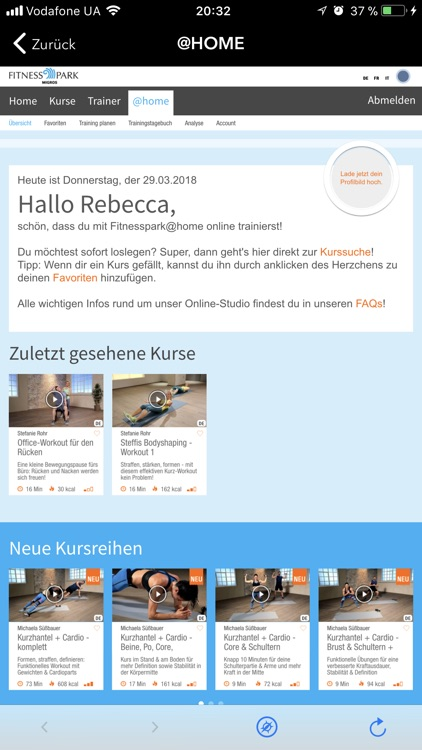 Migros Fitness screenshot-2