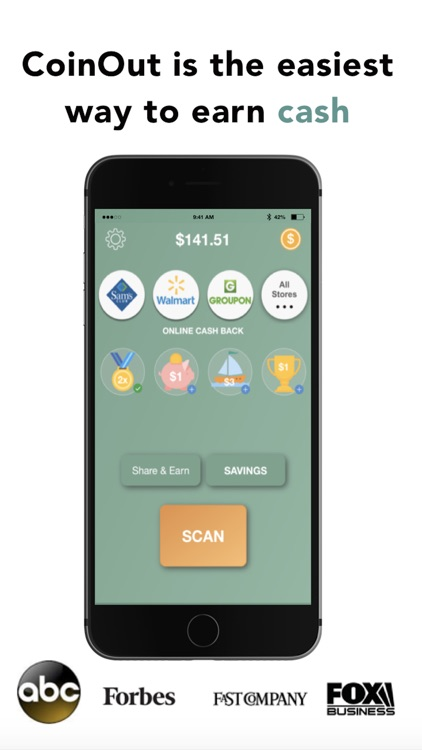 CoinOut - Cash Back Anywhere