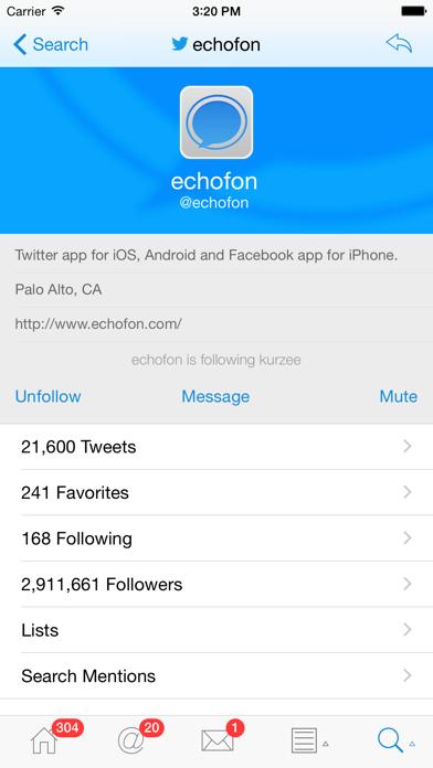 Echofon Pro for Twitter Screenshots