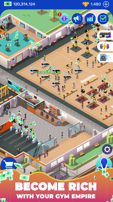 Idle Fitness Gym Tycoon - Game screenshot 2