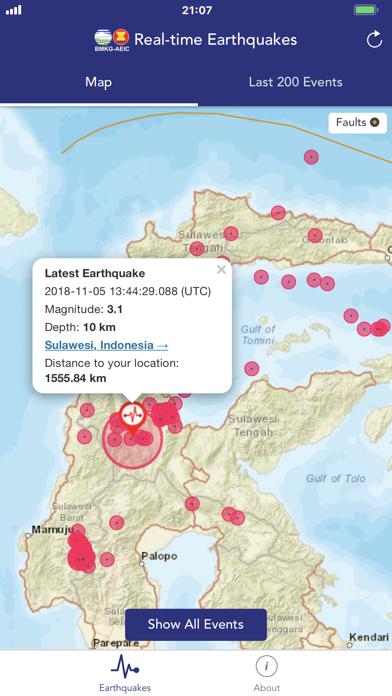 BMKG Real-time Earthquakesのおすすめ画像1
