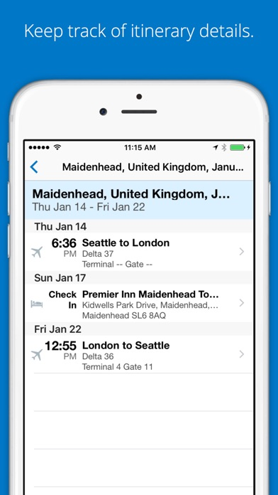 SAP Concur Screenshot on iOS