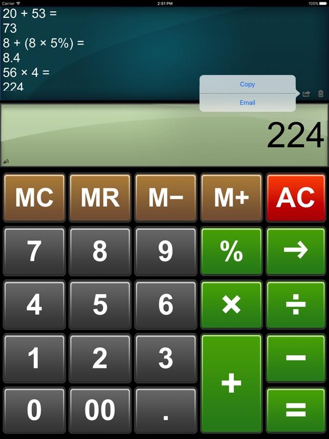 Calculator Easy HD Screenshot