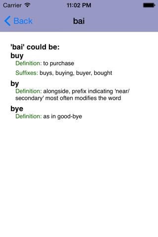 Wordspeller ESL Dictionary - náhled