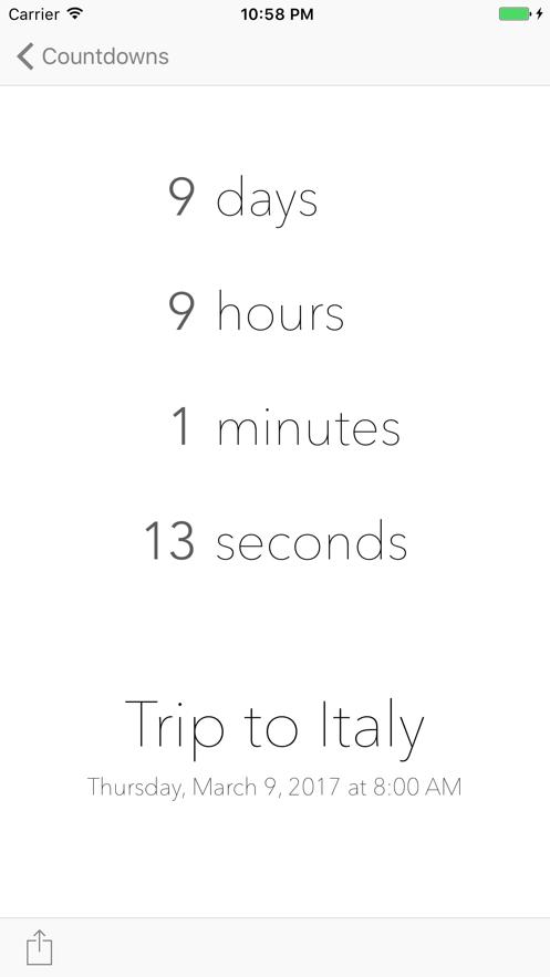 DownCount Countdown Timer App 截图