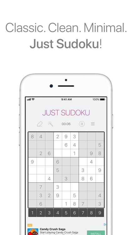 Just Sudoku - Puzzle Game screenshot-0