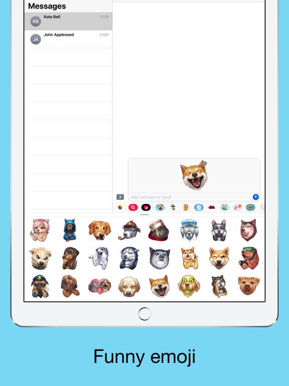Funny dogs - emoji stickers screenshot 8
