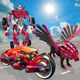 Flying Lion Robot Transform