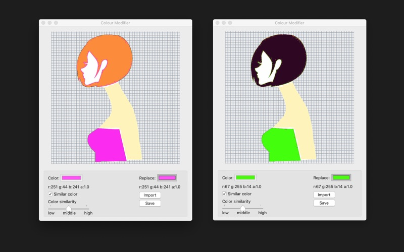 Colour Modifier for Mac