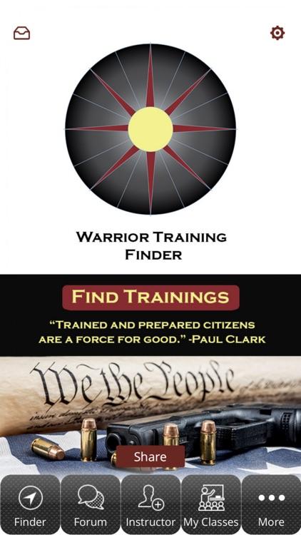 Warrior Training Finder