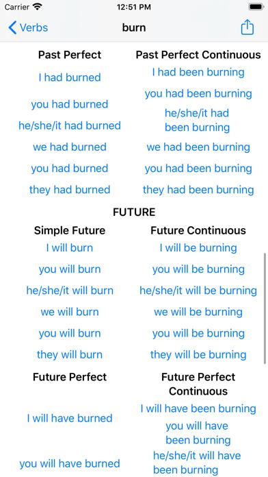 English Verbs. screenshot four