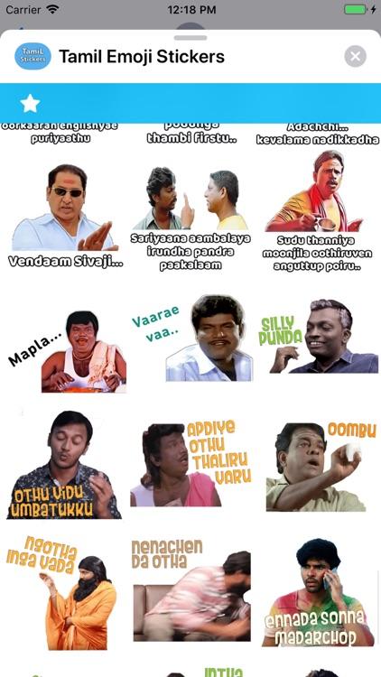 Tamil Emoji Stickers screenshot-3