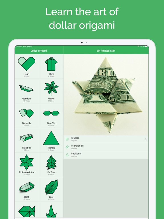 Screenshot #5 pour Origami en dollar