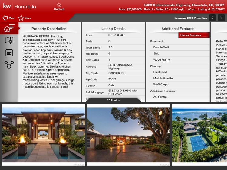 KW Real Estate Search for iPad