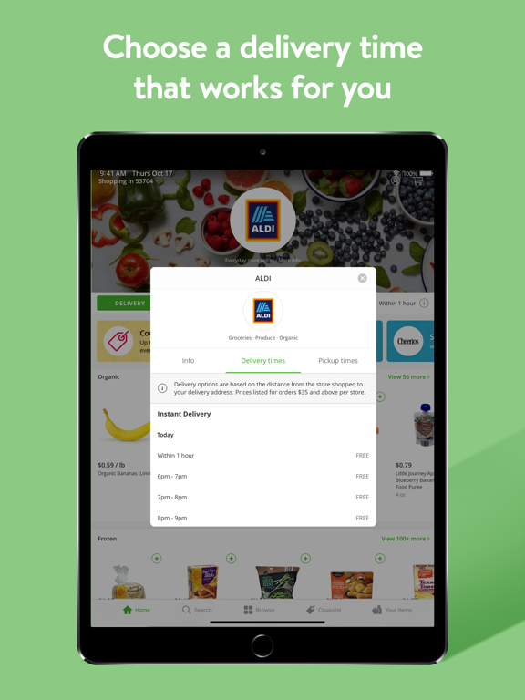iPad Image of Instacart