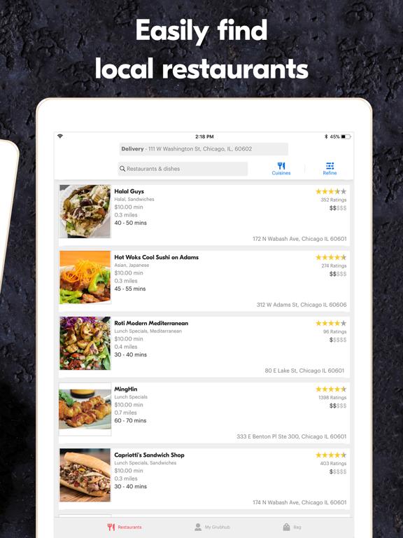iPad Image of Grubhub: Local Food Delivery