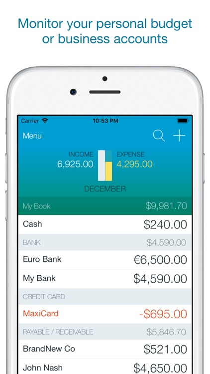 Account Book - Money Manager