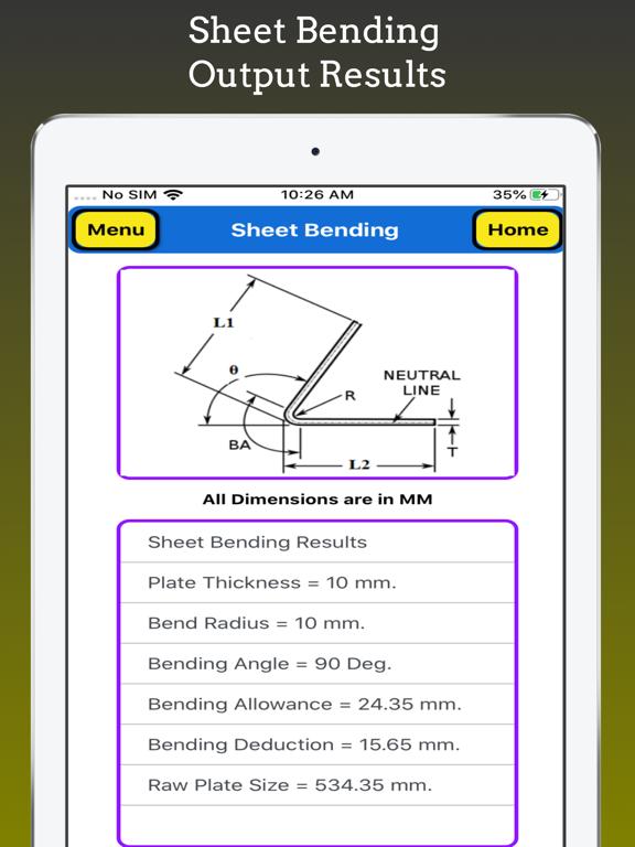 Sheet Bending Calc screenshot 7