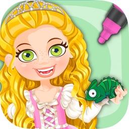 Paint Princess Rapunzel